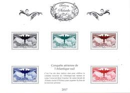 Feuillet Trésors De La Philatélie Atlantique Sud 100e Traversée Aérienne Couzinet 2017 ** - Blocs & Feuillets
