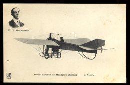 Dijon Aviation 22/25 Septembre 1910:  Fernand Blanchard Sur Monoplan Chesnay Et Cachet De La Manifestation Au Verso - Meetings
