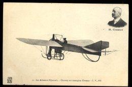 Dijon Aviation 22/25 Septembre 1910:  Chesnay Sur Monoplan Chesnay Et Cachet De La Manifestation Au Verso - Meetings
