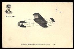 Dijon Aviation 22/25 Septembre 1910:  Renaux Sur Biplan Farman Et Cachet De La Manifestation Au Verso - Meetings
