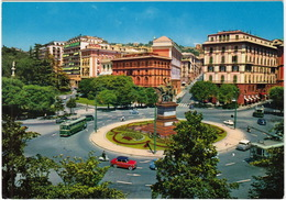 Genova: FIAT 1200 GRAN LUCE, CITROËN DS, 3x TROLLEYBUS - Piazza Corvetto - (Italia) - Voitures De Tourisme