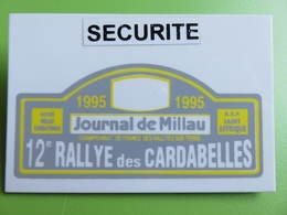126 - Badge - Rallye Des Cardabelles - Championnat De France - Millau - Aveyron - Racing