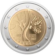 """ESTONIA 2€ BIMETÁLICA  2.017  2017  """"100º Aniversario De La República De Estonia""""  SC/UNC  T-DL-12.229 - Estonia"""