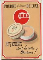 PUBLICITE  CARTON P.L.V.  -   GIBBS  -  POUDRE DE LUXE - UNE  GAMME DE 7 TEINTES - Pharmacie - Placas De Cartón