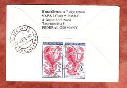 Luftpost, Lundy MeF Ballon, EF Queen, Bideford Nach Rom, Zurueck 1962 (56283) - Local Issues