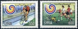Soccer Football Syria #1725/6 1988 Olympics Seoul MNH ** - Unused Stamps