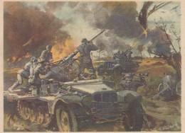 Künstlerkarte Wehrmacht WK II Sign. Mundorff, Viktor Leichte Flak - Guerre 1939-45