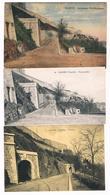 Lot De 3 CPA : NAMUR Citadelle Anciennes Fortifications (colorisée Et N&B) , Promenades Et Tunnels - Namen