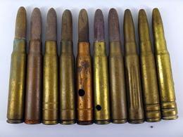 Lot De Cartouches 7.92 Mauser D'exercice Et Manipulation - WW2 Et Divers - Inertes, Neutralisées - 1939-45