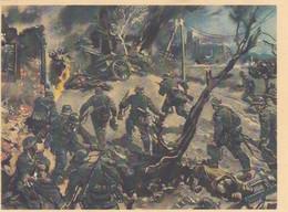 Künstlerkarte Wehrmacht WK II Sign. Mundorff, Viktor Stürmende Infanterie - Weltkrieg 1939-45