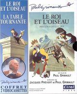 LE ROI ET L'OISEAU ; LA TABLE TOURNANTE  2 VHS - Cartoons