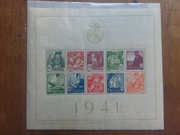 PORTOGALLO 1941 - Costumi Regionali BF 4 Nuovo * (francobolli **) + Spedizione Prioritaria - 1910 - ... Repubblica