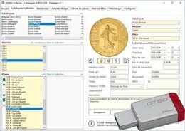 Logiciel NUMIS-Collector, Pièces De Monnaies Sur Clé USB 3.0 32 Go - Books & Software