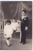 Ancienne Carte Photo Portrait De Trois Enfants - Anonyme Personen