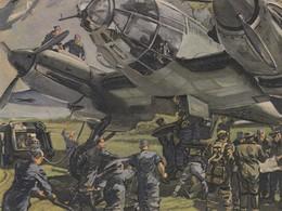 Künstlerkarte Wehrmacht WK II Sign. Mundorff, Viktor Flugzeug - Guerre 1939-45
