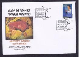 19.- SPAIN ESPAGNE 2015. SPECIAL POSTMARK. ALTAMIRA CAVE. ART ROCK. PREHISTORY PALEOLITHIC ARCHEOLOGY - Arqueología