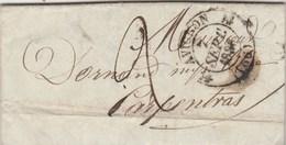 Lettre Entête De Roubaud D'Entraigues Librairie Cachet Fleuron AVIGNON 7/9/1836 Taxe Manuscrite Pour Carpentras Vaucluse - Marcophilie (Lettres)