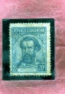 ARGENTINA 1938 1954 OFFICIAL STAMPS SERVICIO OFICIAL MARTIN GUEMES CENT. 15c USATO USED OBLITERE' - Servizio
