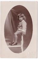 Ancienne Carte Photo Portrait Enfant (photo Bozec Douarnenez) - Persone Anonimi