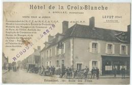 LEVET    BELLE ANIMATION  THEME HOTEL CAFE GARAGE - Francia