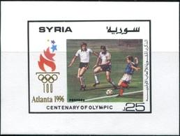 Soccer Football Syria Bl 84 1996 Olympics Atlanta MNH ** - Football
