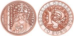 "AUSTRIA  10€ COPPER / COBRE  2.018  2018  ""Raphael - The Healing Angel""  SC/UNC  T-DL-12.234 - Austria"