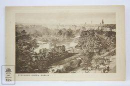 Postcard Ireland - Stephens Green, Dublin - Eyre & Spottiswoode, Woodbury Series 4182 - Dublin