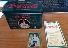 CARTES DE COLLECTION - METAL ART CARDS COCA COLA LADIES (lot De 20) - Coca-Cola