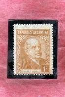 ARGENTINA 1935 1951 SARMIENTO CENT. 1c MLH - Nuovi