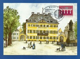 BRD 1984  Mi.Nr. 1211 , EUROPA  CEPT - Brücken - Maximum Karte - S Stempel Wirtschafts-Gipfel Bonn  -2.-5.1985 - Europa-CEPT