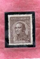 ARGENTINA 1935 1951 URQUIZA CENT. 2c MLH - Nuovi