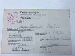 WW2-CORRISPONDENZA DEI PRIGIONIERI DI GUERRA-M.STAMMLAGER XVII-B -SPEDITA  A VEZZAD'OGLIO-BRESCIA-19-12-1943 - Briefe U. Dokumente