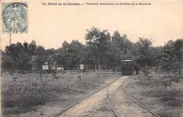 17-COUBRE- FÔRET DE LA COUBRE- TRAMWAY AUTOMOTEUR AU PAVILLON DE LA BOUVERIE - France
