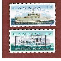 CANADA   -  SG 1857.1858  -  1998  SHIPS: COMPLET SET OF 2      -      USED - 1952-.... Règne D'Elizabeth II