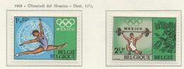 PIA - BELGIO - 1968 : Olimpiadi Di Città Del Messico  - (Yv 1456-60) - Zomer 1968: Mexico-City