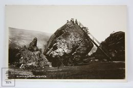 Postcard England - Bowder Stone -Boot Cash Chemists Real Photograph Series - Cumberland/ Westmorland