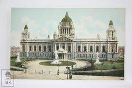 Postcard Northern Ireland - Belfast City Hall - Lawrence Photo - W. E. Walton - Antrim / Belfast