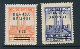 RUANDA URUNDI 1942 ISSUE COB 124/125 MNH - Ruanda