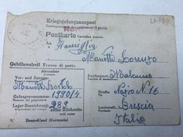 WW2-CORRISPONDENZA DEI PRIGIONIERI DI GUERRA-M.-STAMMLAGER VI-G SPEDITA A BRESCIA-28-8-1944 - Briefe U. Dokumente
