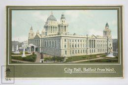 Postcard Northern Ireland -City Hall, Belfast From West - H. R. Carter - Antrim / Belfast