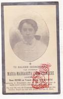 DP Foto - Maria M. DeBrabandere / Verstraete 18j. ° Roeselare 1896 † 1914 - Devotion Images