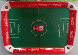 PLATEAU RECTANGLE PVC - FRANCE 1998, COUPE DU MONDE - VIVEZ FOOTBALL, VIBREZ FOOTBALL, BUVEZ COCA COLA - Trays