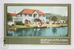 Postcard Northern Ireland - Boathouse On The Lagan, Belfast - H. R. Carter - Antrim / Belfast