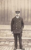 """15. TRANSPORTS.  CARTE PHOTO. AGENT """" P.L.M """" . ANNEE 1910. COLLECTION AS DE TREFLE - Postcards"""