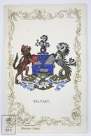 Postcard Northern Ireland - Coat Of Arms, Belfast - Heraldic Series - Ja-Ja - Antrim / Belfast