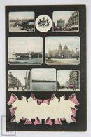 Postcard Northern Ireland - Belfast Views - Antique View Collage - The N. P. O. - Antrim / Belfast