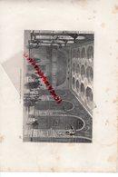 77- FONTAINEBLEAU - CHATEAU SALLE DE HENRI II - GRAVURE 1885 - Stiche & Gravuren