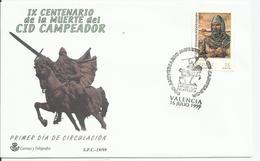 España. 1999. IX Centenario De La Muerte Del Cid Campeador. - Poststempel - Freistempel