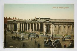 Postcard Ireland - Bank Of Ireland, Dublin - Valentine Series - Animated - Trams - Dublin