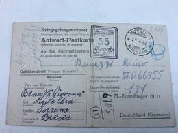 9-5-1944-WW2-CORRISPONDENZA PRIGIONIERI DI GUERRA-M.-STAMMLAGER III D-SPEDITA DA NUVOLERA-BRESCIA-15-4-1944 - Germany